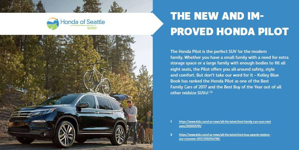 Honda pilot the modern family suv honda of seattle blog for Honda of seattle service