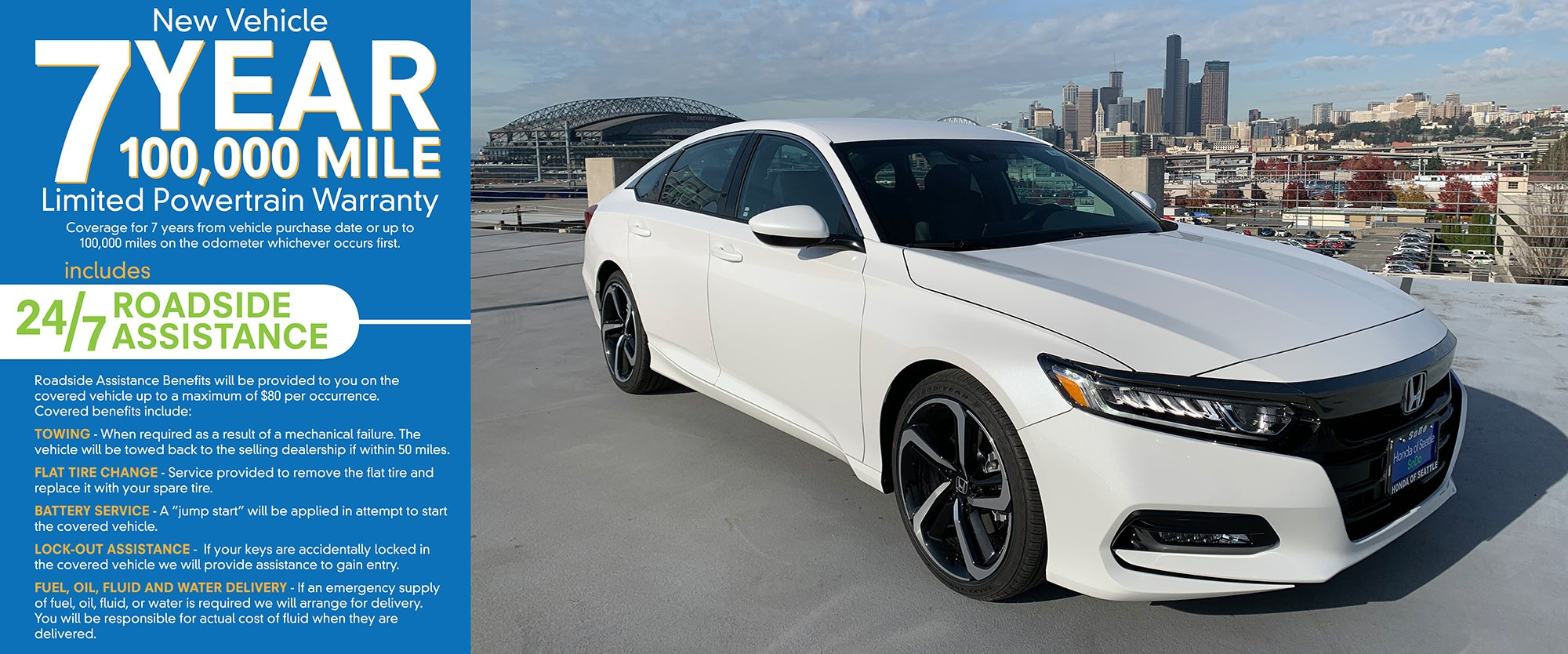 Honda Of Seattle >> 7 100 Warranty